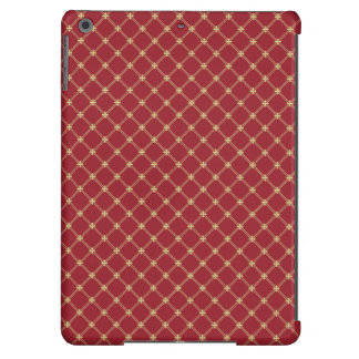 Tudor Red and Gold Criss-Cross Pattern Case For iPad Air