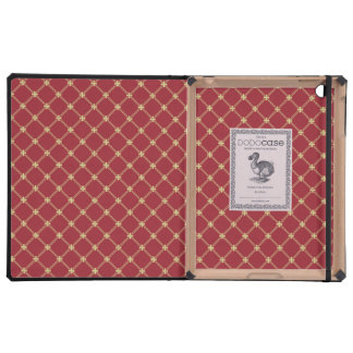 Tudor Red and Gold Criss-Cross Pattern Covers For iPad