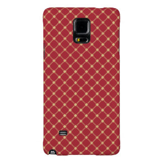 Tudor Red and Gold Criss-Cross Pattern Galaxy Note 4 Case