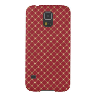 Tudor Red and Gold Criss-Cross Pattern Galaxy S5 Cover
