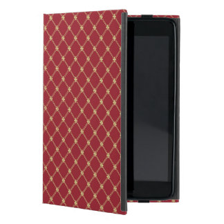 Tudor Red and Gold Criss-Cross Pattern iPad Mini Case