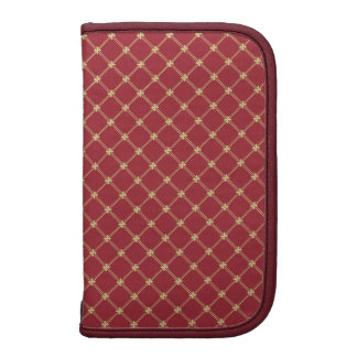 Tudor Red and Gold Criss-Cross Pattern Planner