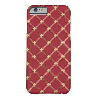 Tudor Red and Gold Diagonal Pattern Barely There iPhone 6 Case