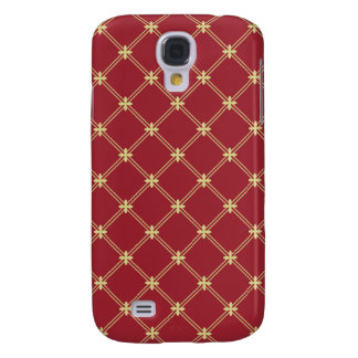 Tudor Red and Gold Diagonal Pattern Galaxy S4 Case