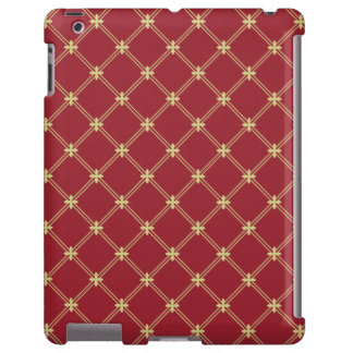 Tudor Red and Gold Diagonal Pattern iPad Case