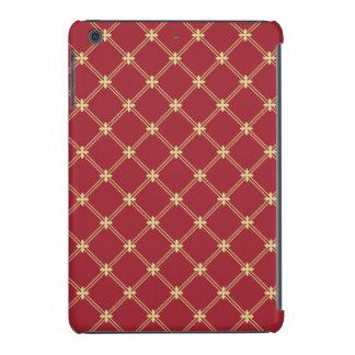 Tudor Red and Gold Diagonal Pattern iPad Mini Case