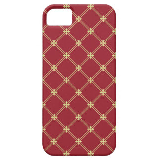 Tudor Red and Gold Diagonal Pattern iPhone 5 Cover