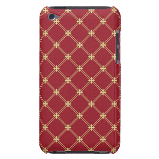 Tudor Red and Gold Diagonal Pattern iPod Touch Cover