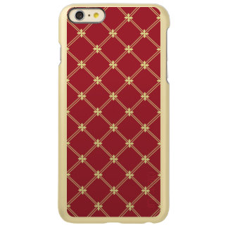 Tudor Red and Gold Diamond Pattern iPhone 6 Plus Case