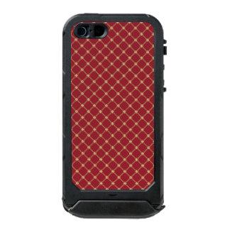 Tudor Red and Gold Diamond Pattern Incipio ATLAS ID™ iPhone 5 Case
