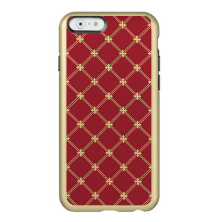 Tudor Red and Gold Diamond Pattern Incipio Feather® Shine iPhone 6 Case