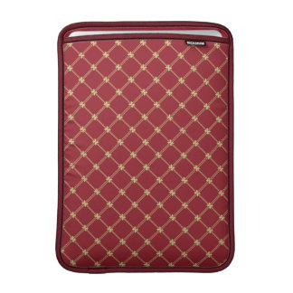 Tudor Red and Gold Pattern 13 Inch Sleeve For MacBook Air