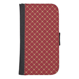 Tudor Red and Gold Pattern Phone Wallet