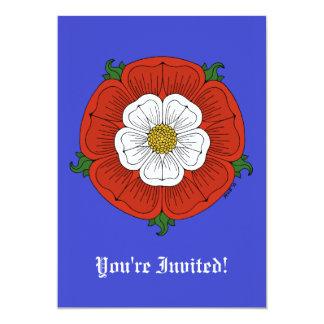 Tudor Rose 13 Cm X 18 Cm Invitation Card