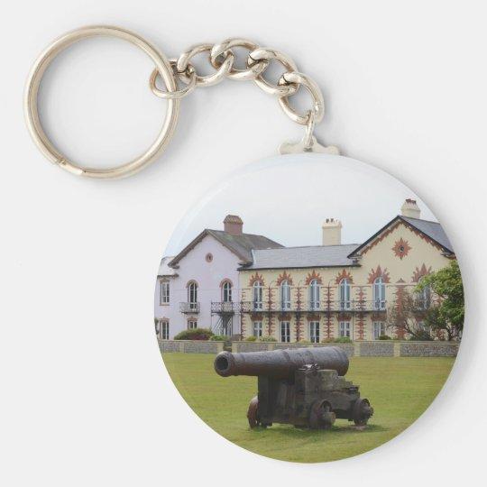 Tudor Rose Cannon Basic Round Button Key Ring