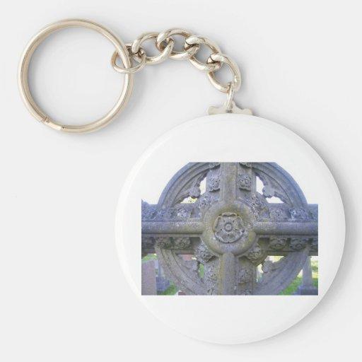 Tudor Rose Gravestone Keychains