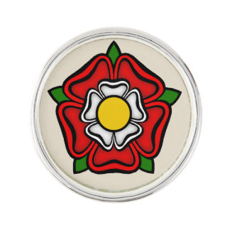 Tudor Rose of England, Emblem of Royalty Lapel Pin