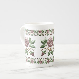Tudor Rose Porcelain Tea Mug