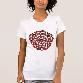 Tudor Rose Red Mandala T-Shirt
