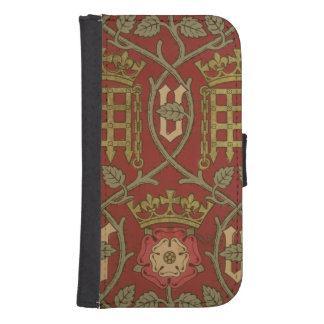 'Tudor Rose', reproduction wallpaper designed by S Samsung S4 Wallet Case