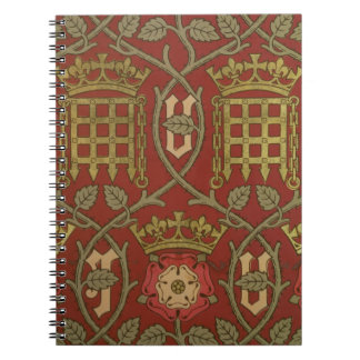 'Tudor Rose', reproduction wallpaper designed by S Spiral Notebooks