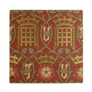 'Tudor Rose', reproduction wallpaper designed by S Wood Coaster