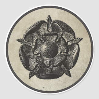 Tudor Rose Round Sticker