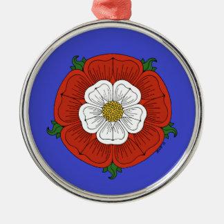Tudor Rose Silver-Colored Round Decoration