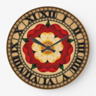 Tudor Rose Wall Clock