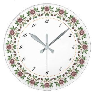 Tudor Roses Wall Clock