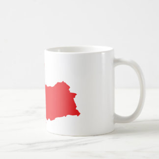 Tuerkiye contour icon coffee mugs