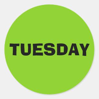Tuesday Ad Lib Yellow Green Sticker by Janz