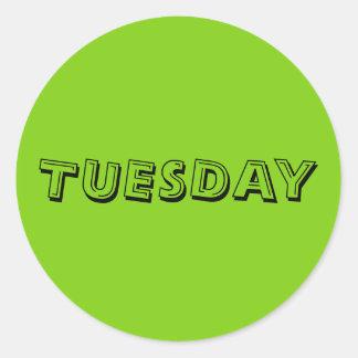 Tuesday Alphabet Soup Yellow Green Sticker by Janz
