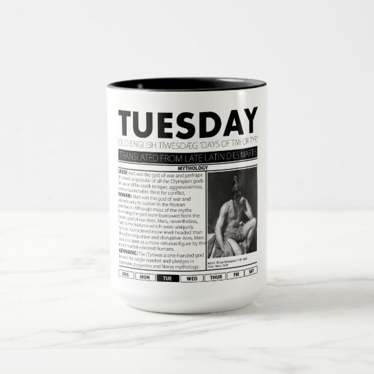 TUESDAY AND THE MYTH BEHIND IT:  one of seven cups