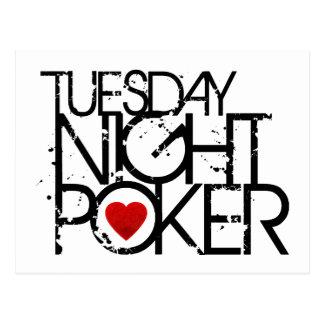 Tuesday Night Poker Postcard