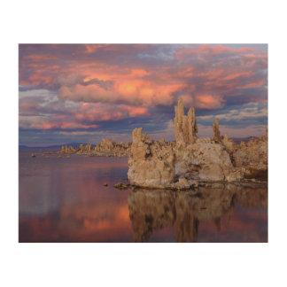 Tufa Formations on Mono Lake Wood Print
