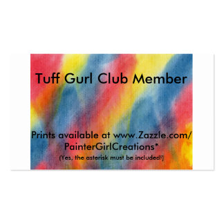Tuff Gurl Club Survivor Cards Double-Sided Standard Business Cards (Pack Of 100)