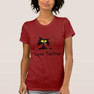 Tuff Kitty loves Twitter T-shirt