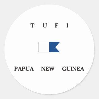 Tufi Papua New Guinea Alpha Dive Flag Stickers