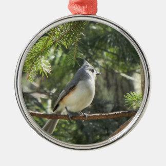 Tufted Titmouse Christmas Ornament