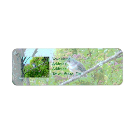 Tufted Titmouse Fledgling Baby Bird Return Address Label
