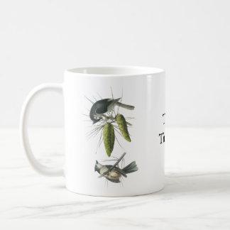 Tufted Titmouse, John Audubon Basic White Mug