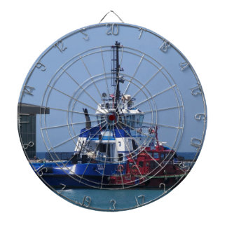 Tug Boat And Pilot Boat Dartboard