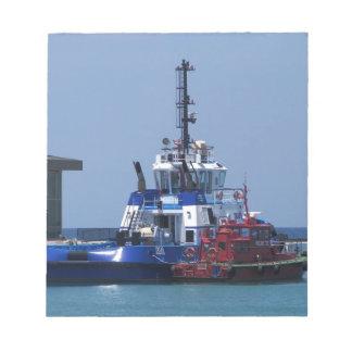 Tug Boat And Pilot Boat Notepad