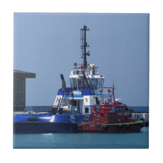 Tug Boat And Pilot Boat Tile