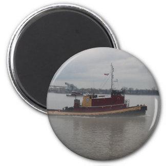 Tug Boat in the Fog Magnet