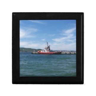 Tug In Harbor Gift Box