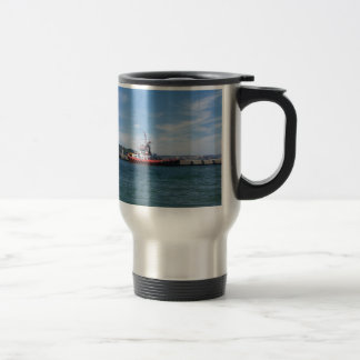 Tug In Harbor Travel Mug