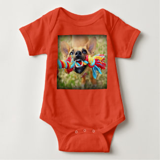 Tug o war Dog Chihuahua Baby Bodysuit