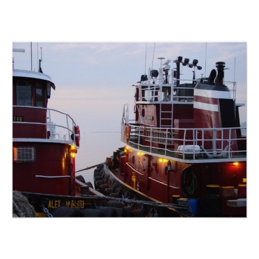 Tugs in the Harbour at Poster